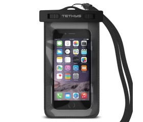Tethys Waterproof Case for iPhone 6 Plus and iPhone 6 5S 5, Galaxy S6 and S6 Edge; Galaxy Note 4 3 [Black][Ultrapouch Pro] Universal Portable Waterproof Pouch with Touch Responsive Front and Back Transparent Screen Protector Windows