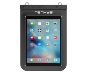 TETHYS Waterproof Dry Bag for Devices up to 10 inches - Black