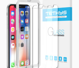 TETHYS Tempered Glass Screen Protector Designed for iPhone XS (2018) / iPhone X (2017) (3-Pack)