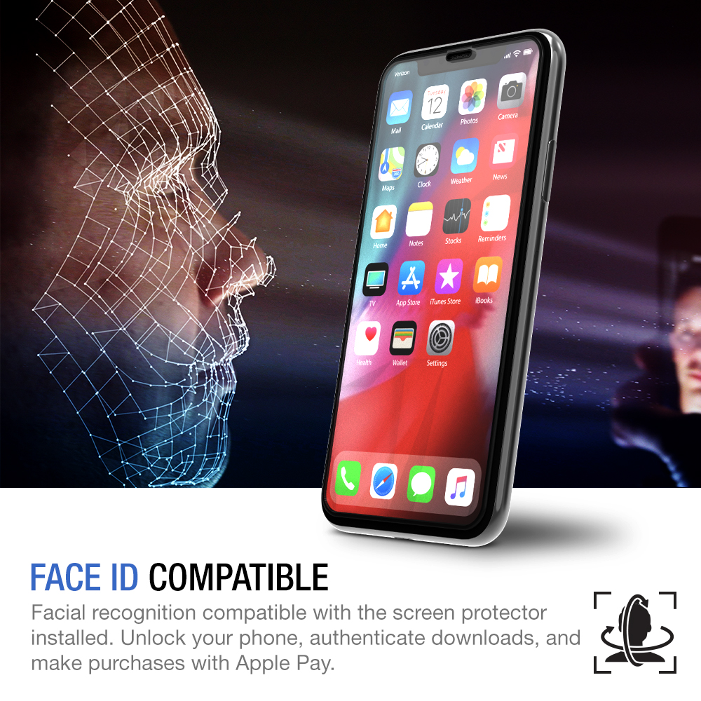 TETHYS Glass Screen Protector Designed for iPhone XR (6 1
