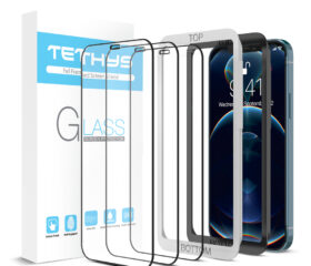 Tethys Glass Screen Protector For Apple iPhone 12 / 12 Pro / 11 / XR [Edge To Edge Coverage] (3 PACK)